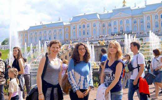 Peterhof trip during a Exlinguo Russian course in St Petersburg, Russia